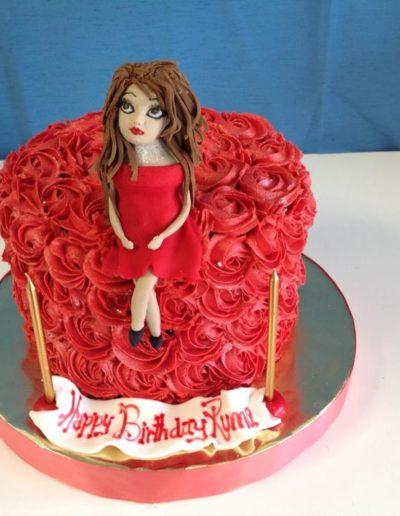 Red Dress Birthday Cake