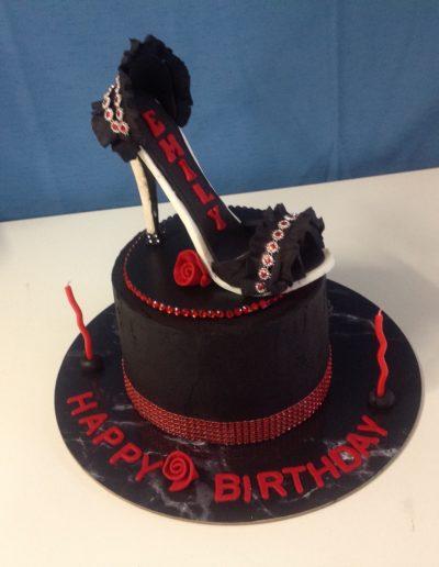 Black Red Birthday Cake