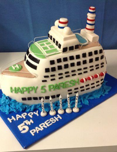 5th Ship Birthday Cake