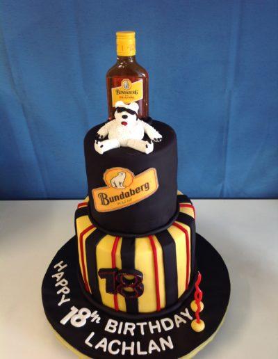 18th Bundaberg Rum Birthday Cake