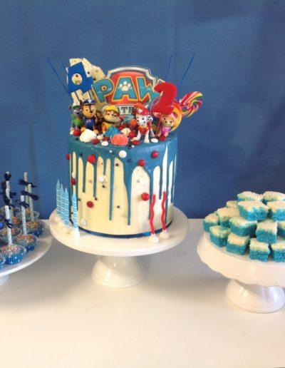 Paw Patrol birthday cakes lolly buffets