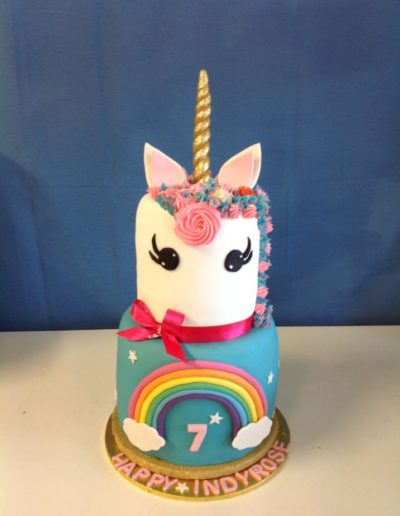 7th Unicorn Birthday Cake