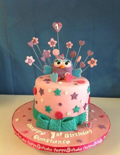 Hoot Birthday Cake 1st
