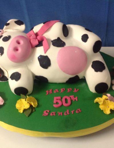 Cow Birthday Cake 50th