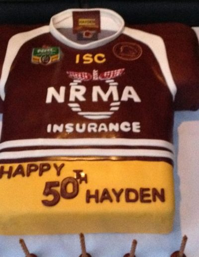 Queensland Shirt Birthday Cake 50th