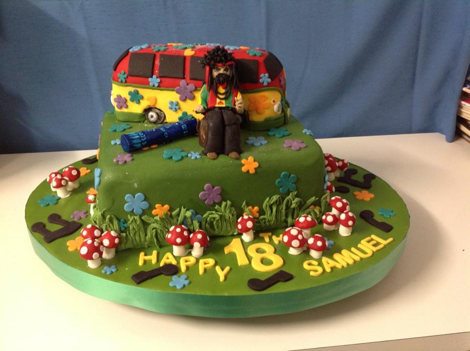 18th birthday cake hippy