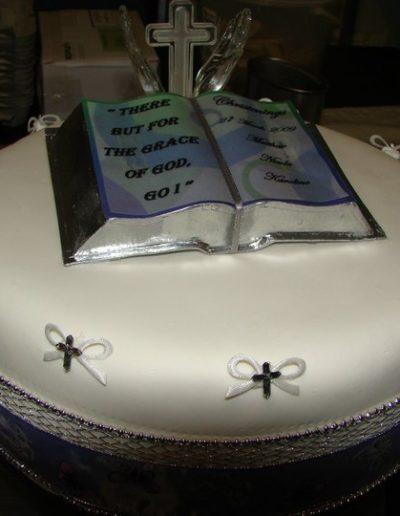 christening and naming cake